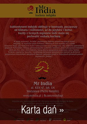 Mr India Food Menu